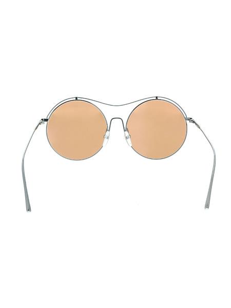 Круглые солнцезащитные очки в металлической оправе CK2161S 060 Calvin Klein, фото