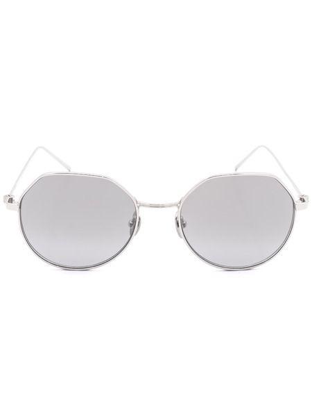 Круглые солнцезащитные очки в оправе из титана CK18111S 39173 045 Calvin Klein фото