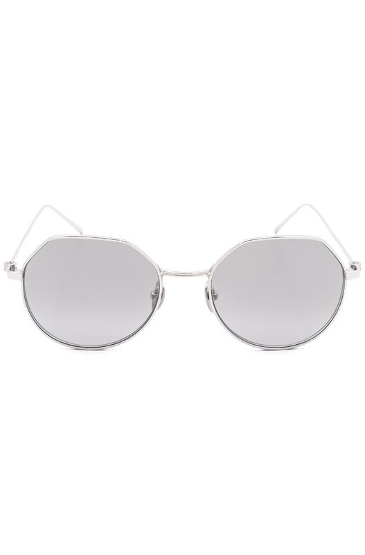 Круглые солнцезащитные очки в оправе из титана CK18111S 39173 045 Calvin Klein, фото