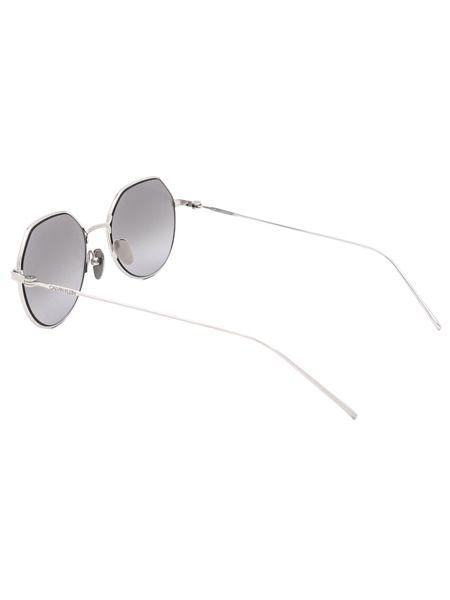Круглые солнцезащитные очки в оправе из титана CK18111S 39173 045