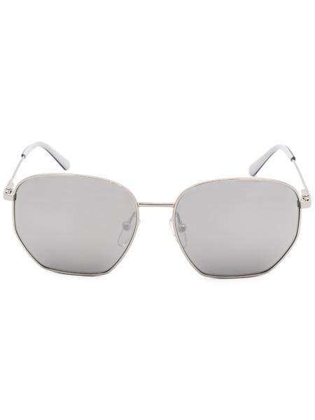 Квадратные солнцезащитные очки в тонкой оправе CK19102S 046 Calvin Klein, фото
