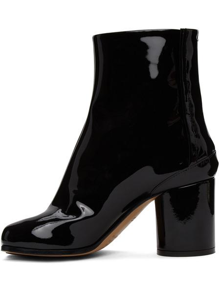 Черные лакированные сапоги MM6 Tabi Maison Margiela, фото