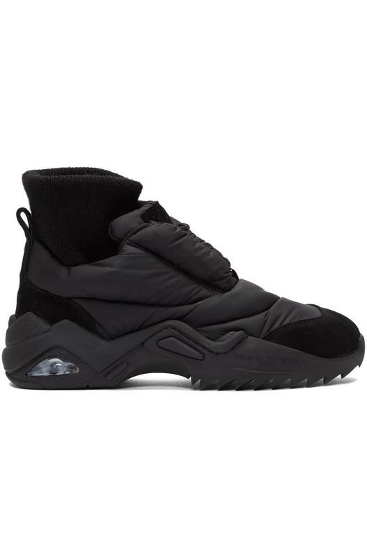 Черные кроссовки Puffer
