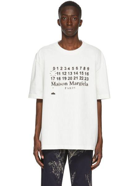 Белая футболка оверсайз с логотипом Maison Margiela фото