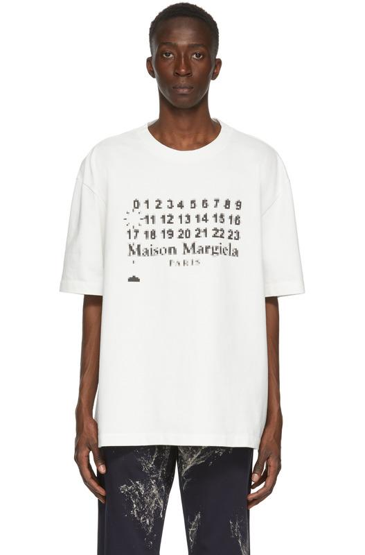 Белая футболка оверсайз с логотипом Maison Margiela, фото