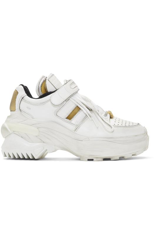 Белые классические кроссовки MM6 в стиле ретро Maison Margiela, фото