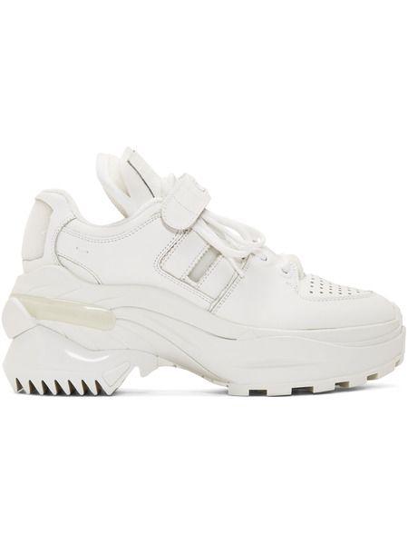 Белые ретро кроссовки MM6 Maison Margiela фото