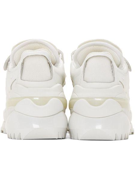 Белые ретро кроссовки MM6