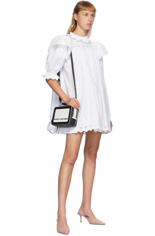 Черно-белая сумка The Colorblocked Box Marc Jacobs