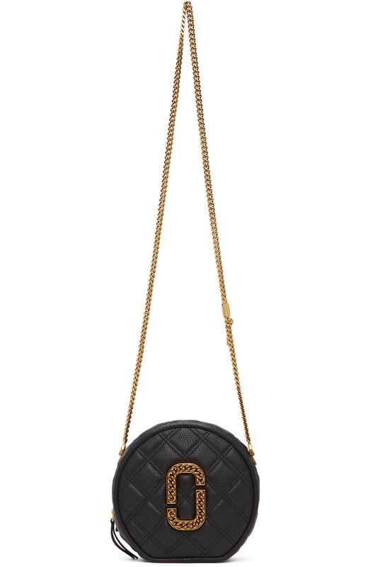 Черная круглая сумка 'The Status' Crossbody Marc Jacobs, фото