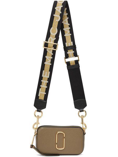 Коричневая маленькая сумка Snapshot Marc Jacobs фото