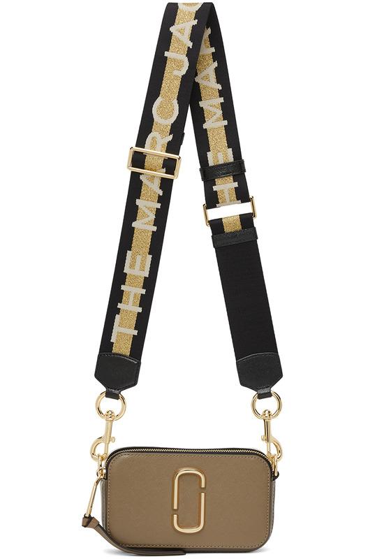Коричневая маленькая сумка Snapshot Marc Jacobs, фото