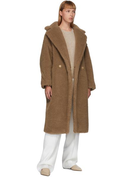Светло-коричневое пальто Teddy Bear Icon Max Mara, фото
