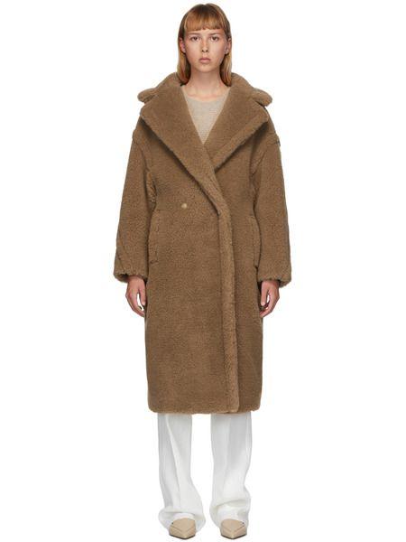 Светло-коричневое пальто Teddy Bear Icon Max Mara фото