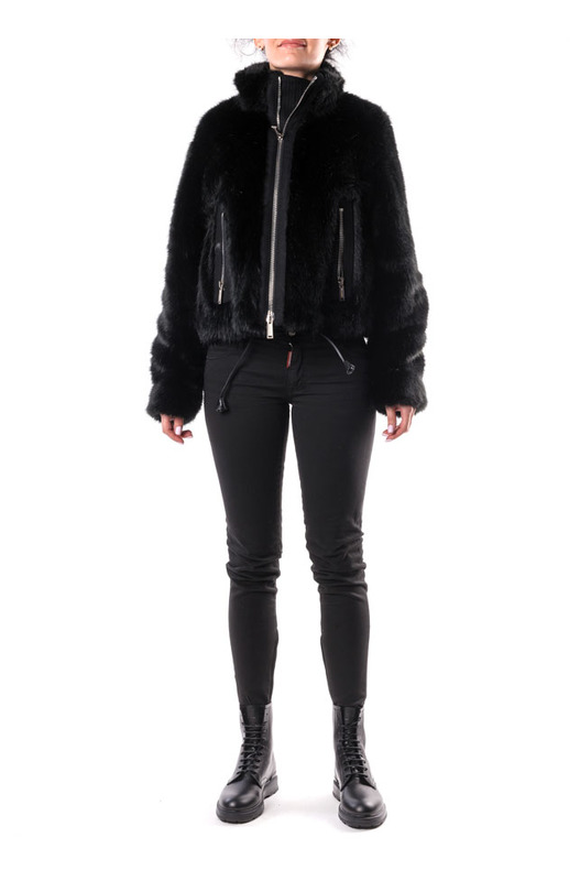 Меховая куртка на молнии Dsquared2, фото