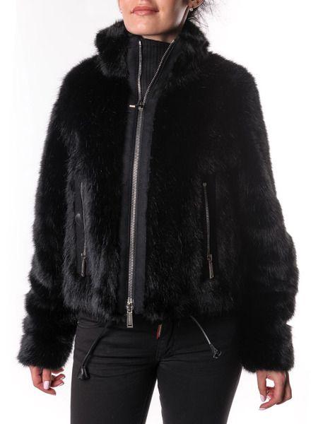 Меховая куртка на молнии Dsquared2 фото