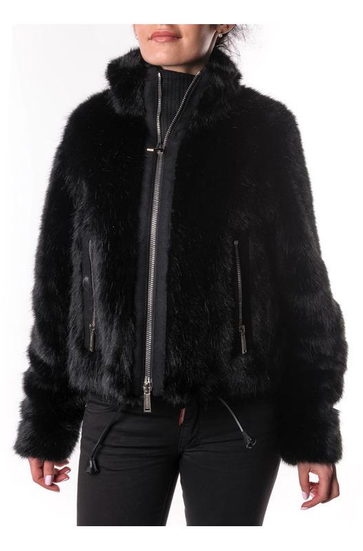 Меховая куртка на молнии