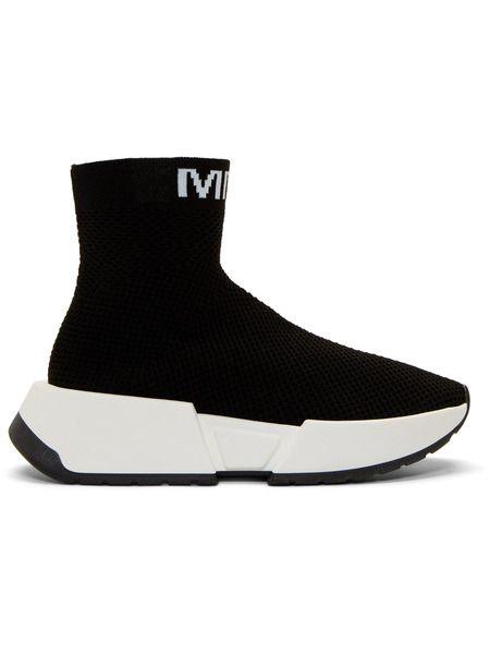Черные высокие кроссовки Second Skin Maison Margiela фото
