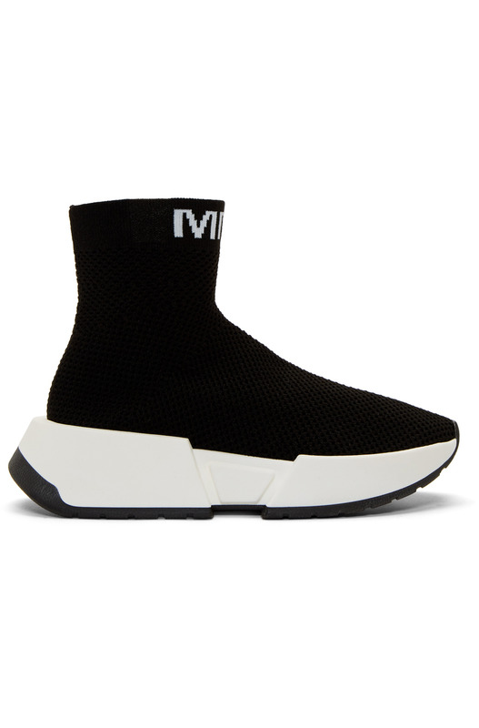 Черные высокие кроссовки Second Skin