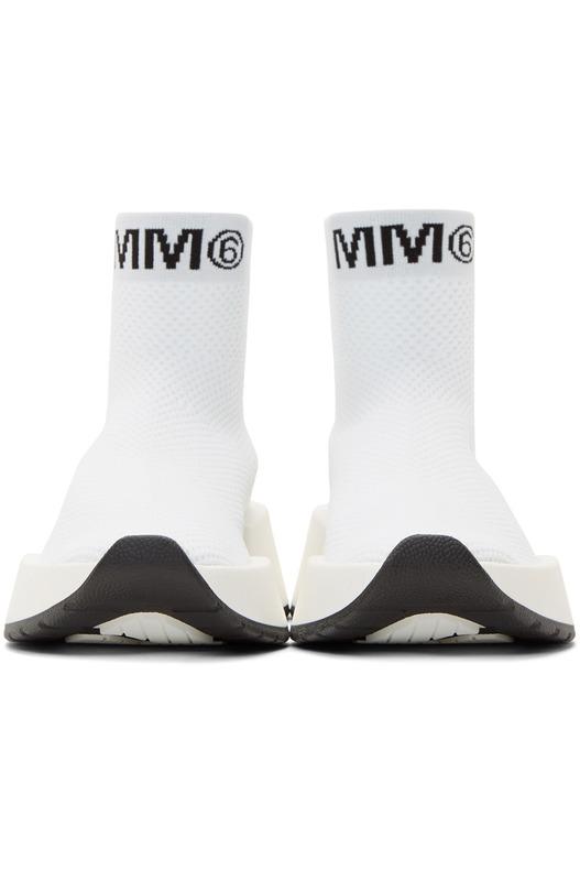 Белые высокие кроссовки Second Skin Maison Margiela