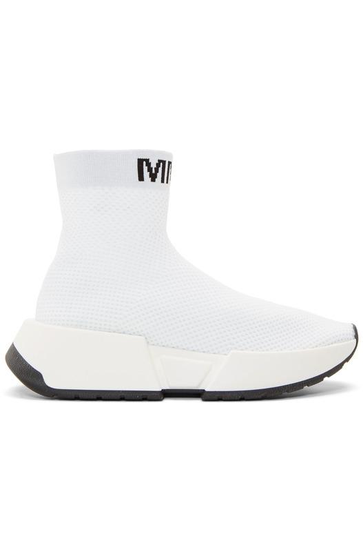 Белые высокие кроссовки Second Skin