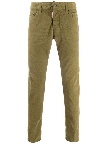 Мужские джинсы Slim-Fit хаки Dsquared2 фото