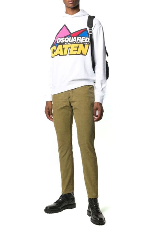 Мужские джинсы Slim-Fit хаки Dsquared2, фото