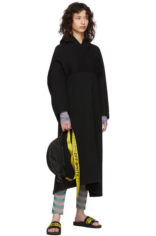 Черные пляжные шлепанцы Off-White
