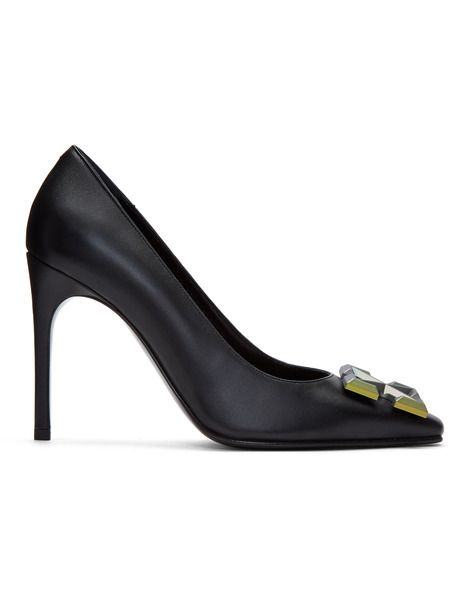 Черные туфли-лодочки с металлическим логотипом Off-White фото