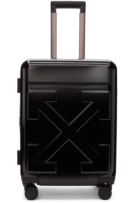 Черный чемодан с логотипом Off-White, фото