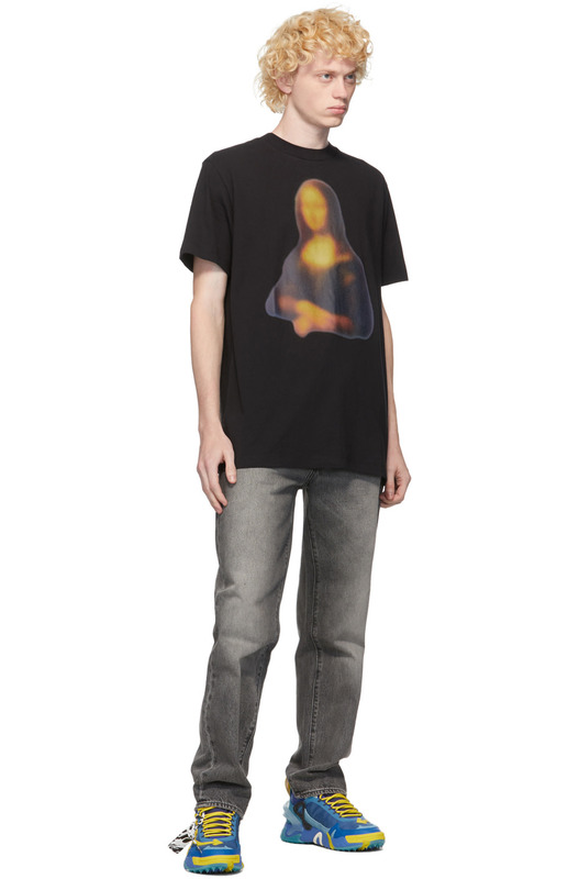 Футболка с принтом Blurred Monalisa Off-White, фото