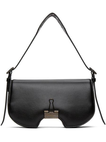 Черная сумка с клапаном Off-White фото