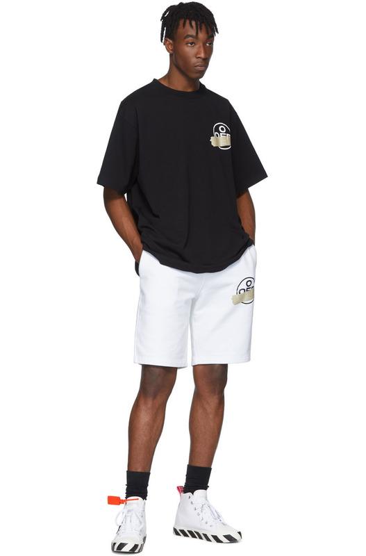 Черная футболка с логотипом на груди и спине Off-White, фото