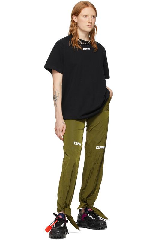 Зеленые нейлоновые брюки Lounge Off-White, фото