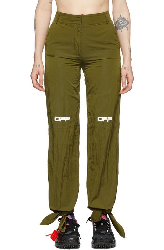 Зеленые нейлоновые брюки Lounge