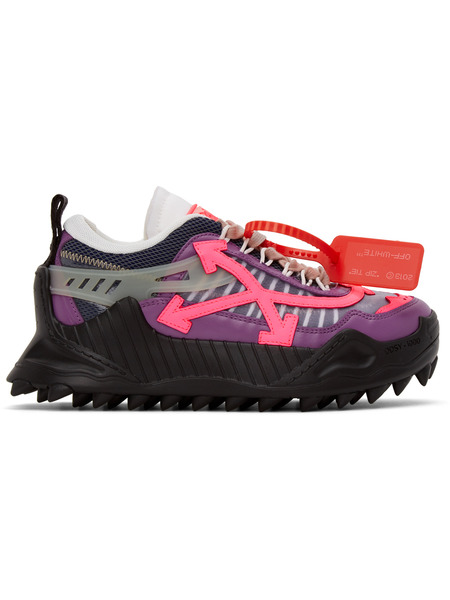 Фиолетовые с розовым кроссовки Odsy-1000 Off-White, фото