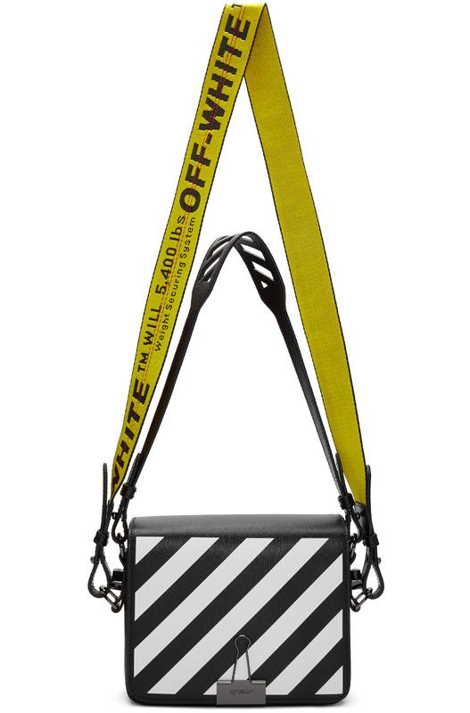Черная сумка в полоску Off-White, фото