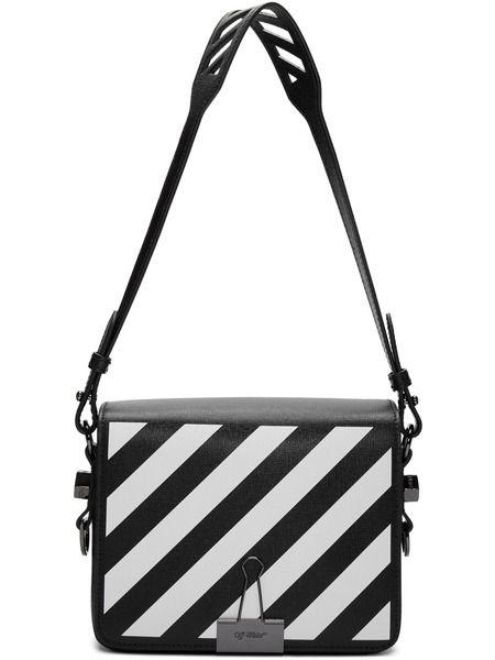 Черная сумка в полоску