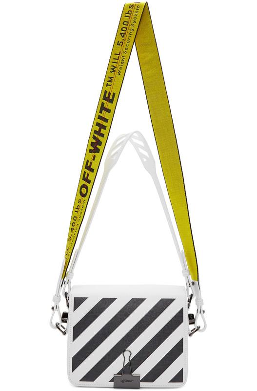 Белая сумка в полоску Off-White, фото