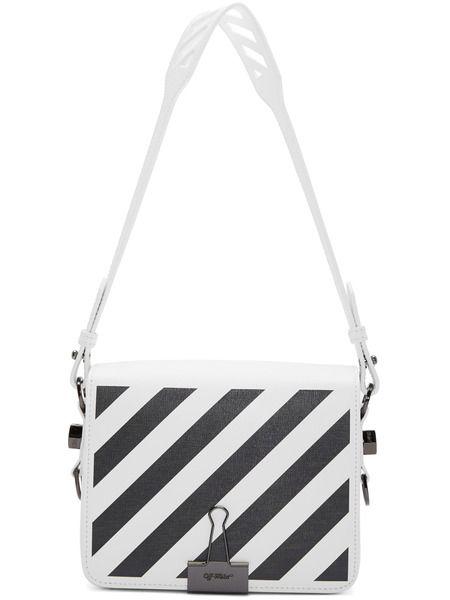 Белая сумка в полоску