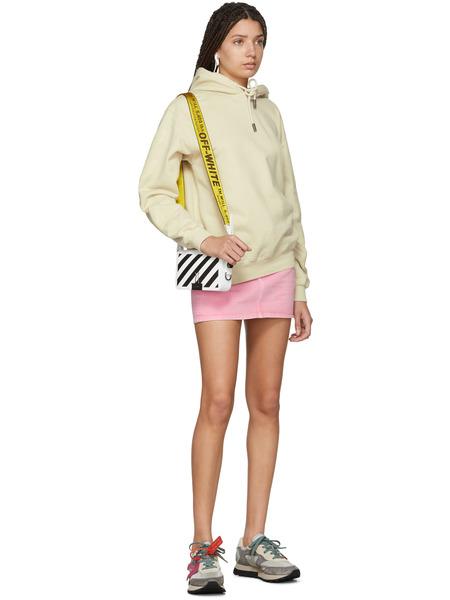 Белая сумка в полоску с ремнем Off-White, фото