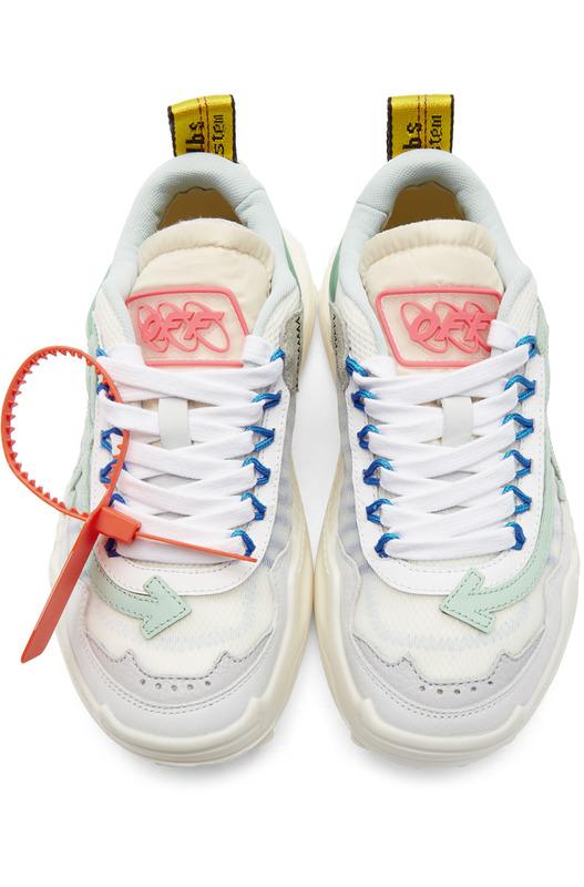 Бело-синие кроссовки ODSY-1000 Off-White, фото