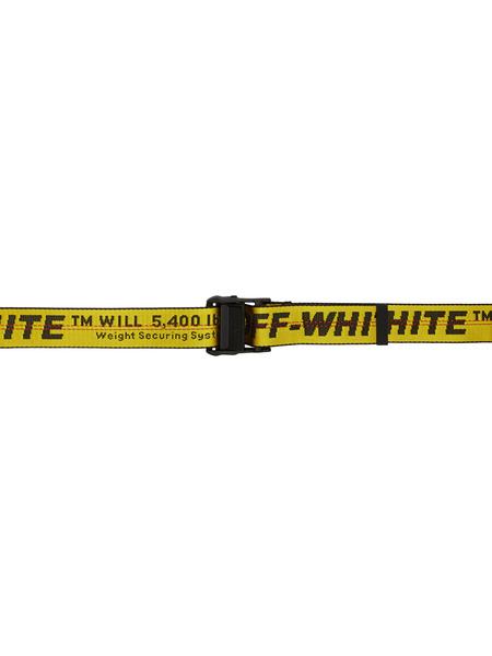 Желтый ремень с принтом Classic Off-White, фото