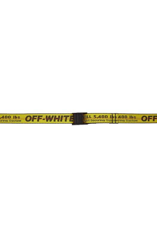 Желтый текстильный ремень Mini Off-White, фото