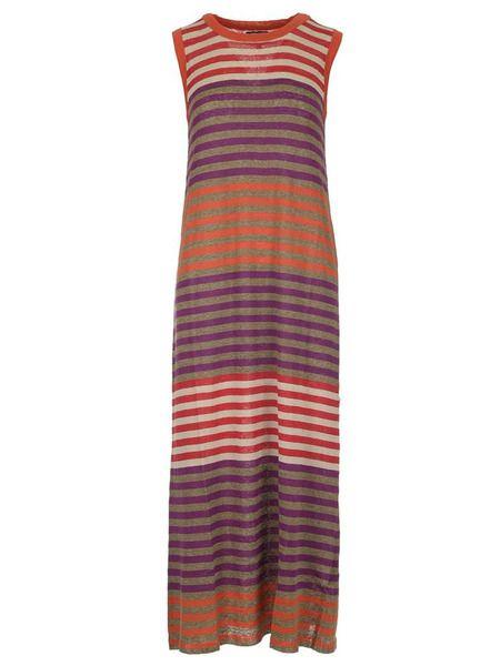 Платье макси в разноцветную полоску Woolrich фото