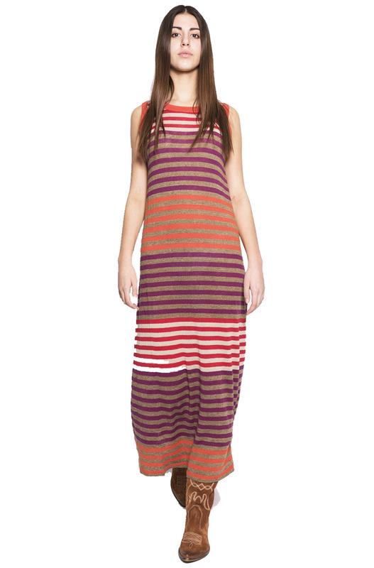 Платье макси в разноцветную полоску Woolrich, фото