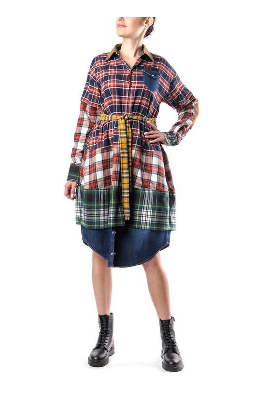Платье-рубашка в клетку Dsquared2, фото
