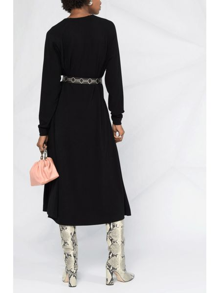 Платье-трапеция с длинными рукавами