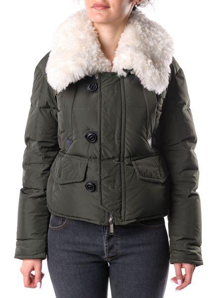 Пуховая куртка с меховым воротником Dsquared2 фото