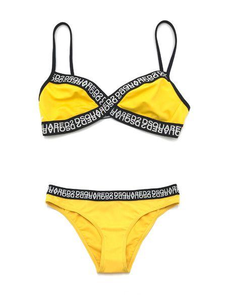 Раздельный купальник желтого цвета Dsquared2 фото